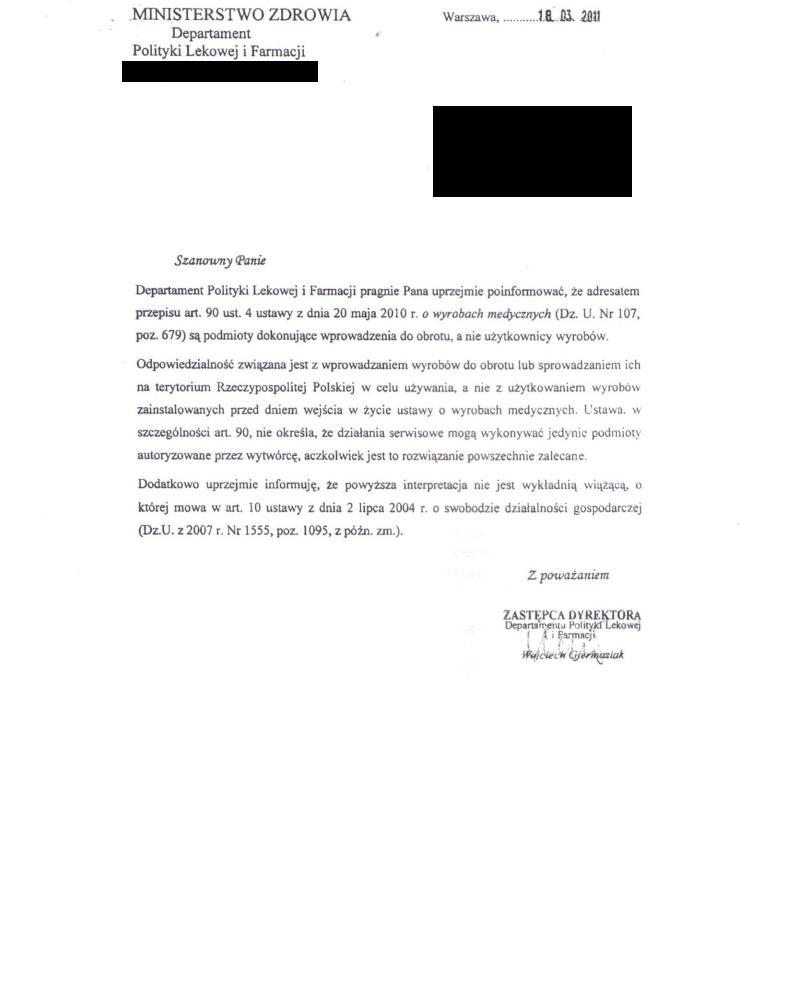 Interpretacja ustawy o wyrobach medycznych - Ministerstwo Zdrowia