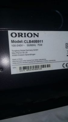 tv orion clb40b911 - i need a firmware for this tv