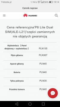 Huawei P8 Lite - migający obraz po zalaniu