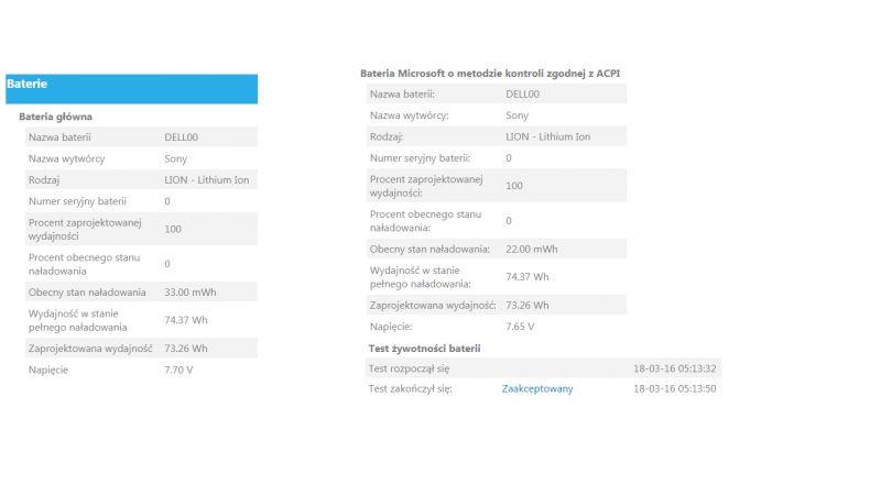 [Rozwiązano] Dell Precision M6300 Bateria - Brak ladowania nowej rocznej baterii