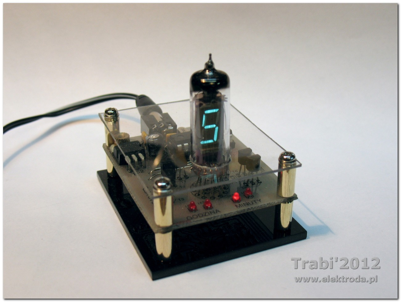 Zegarek VFD - jedna lampka
