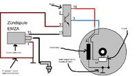 Podłączenie modułu zapłonowego w silniku Simson S51