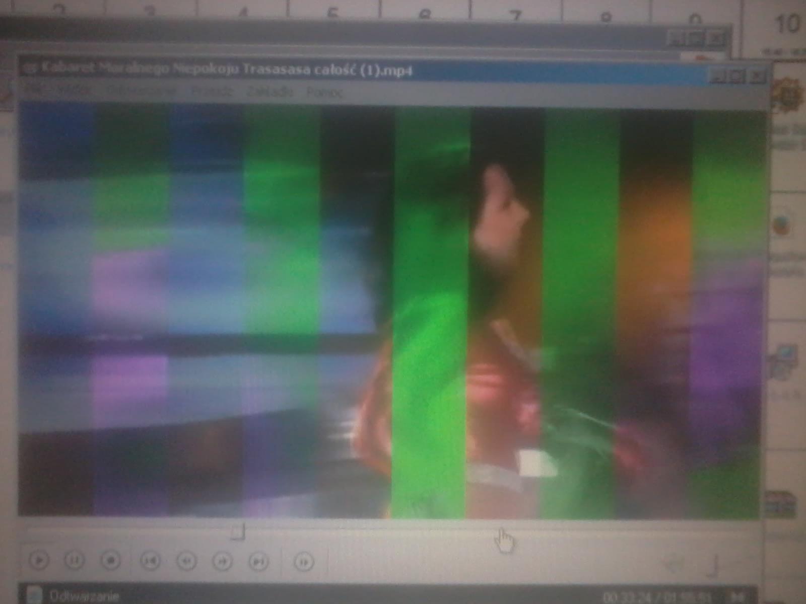 Artefakty podczas ogl�dania film�w na lapku Acer Aspire 3000