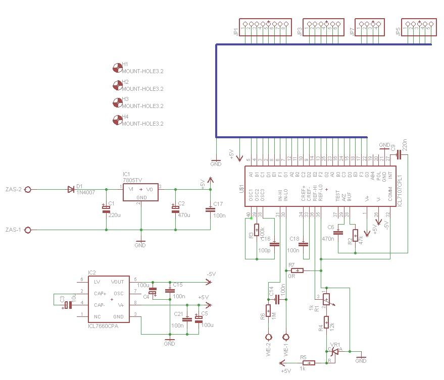 ICL7107 - Jak dobra� warto�ci, kalibracja