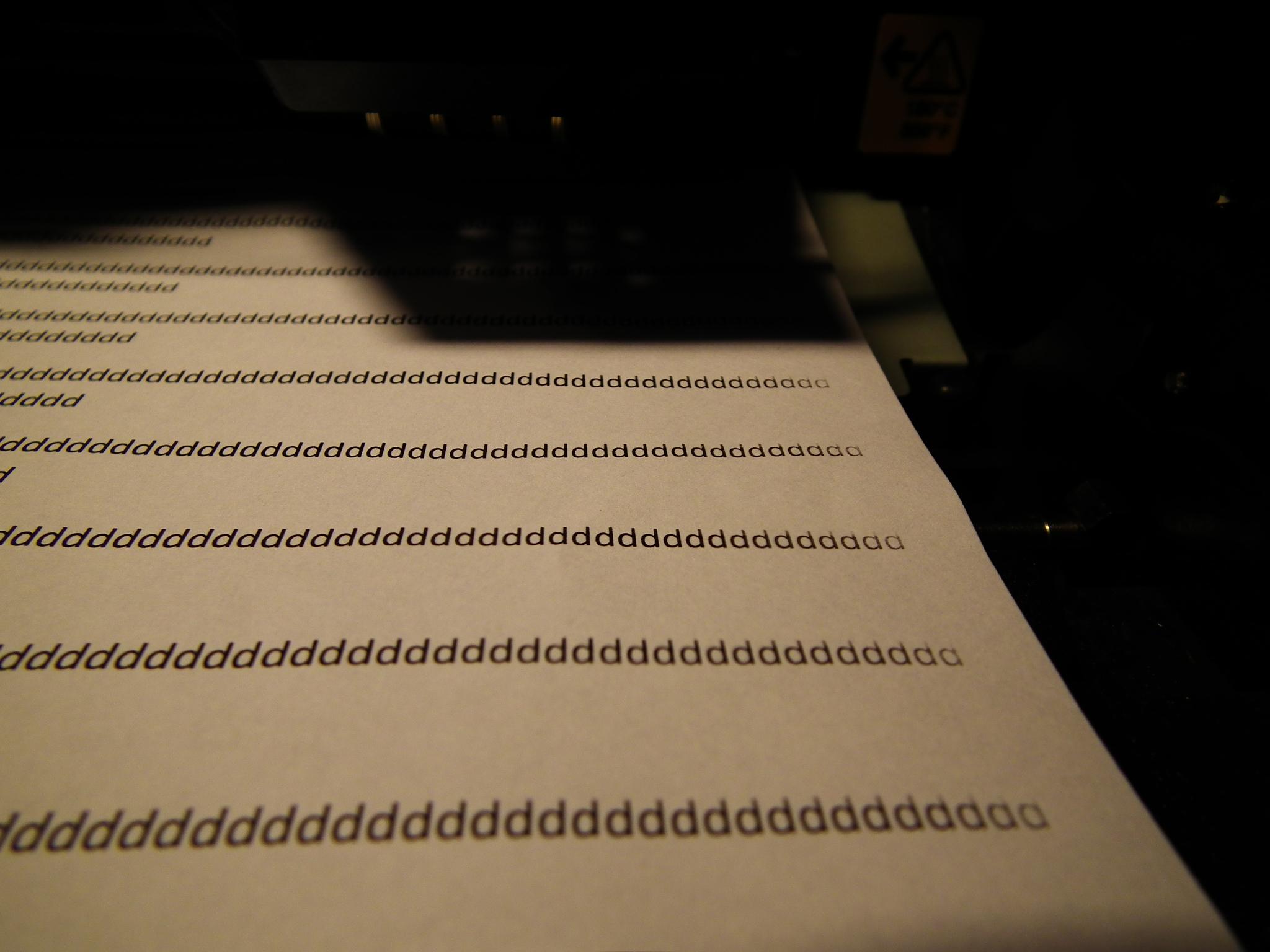 Samsung ML2580 - Blado drukuje margines z prawej strony