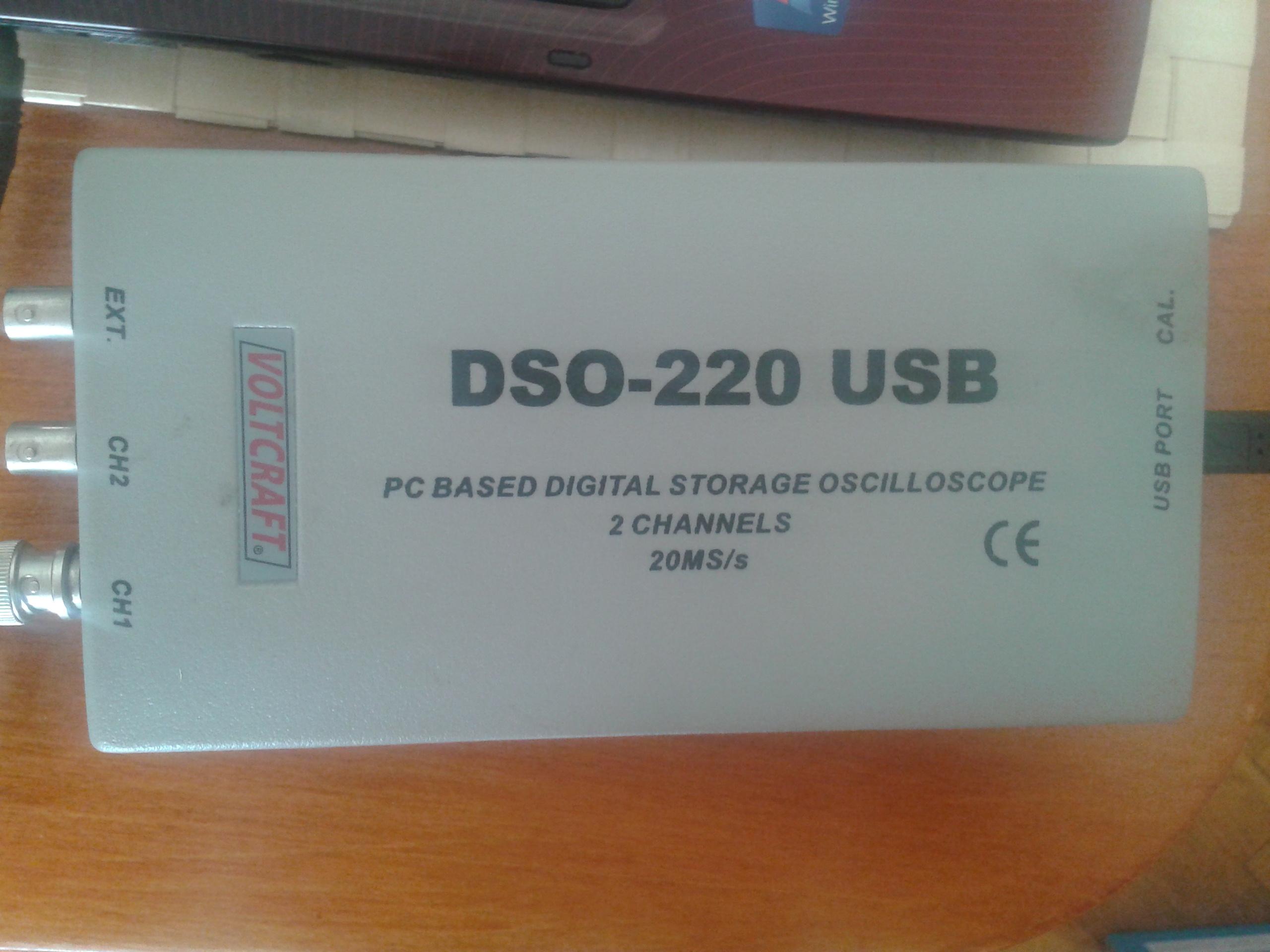 Oscyloskop Voltcraft DSO-220  - Potrzebne sterowniki do Windows 7.