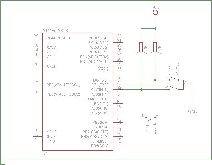 Impulsator, Atmega328p na jednym przerwaniu INT0