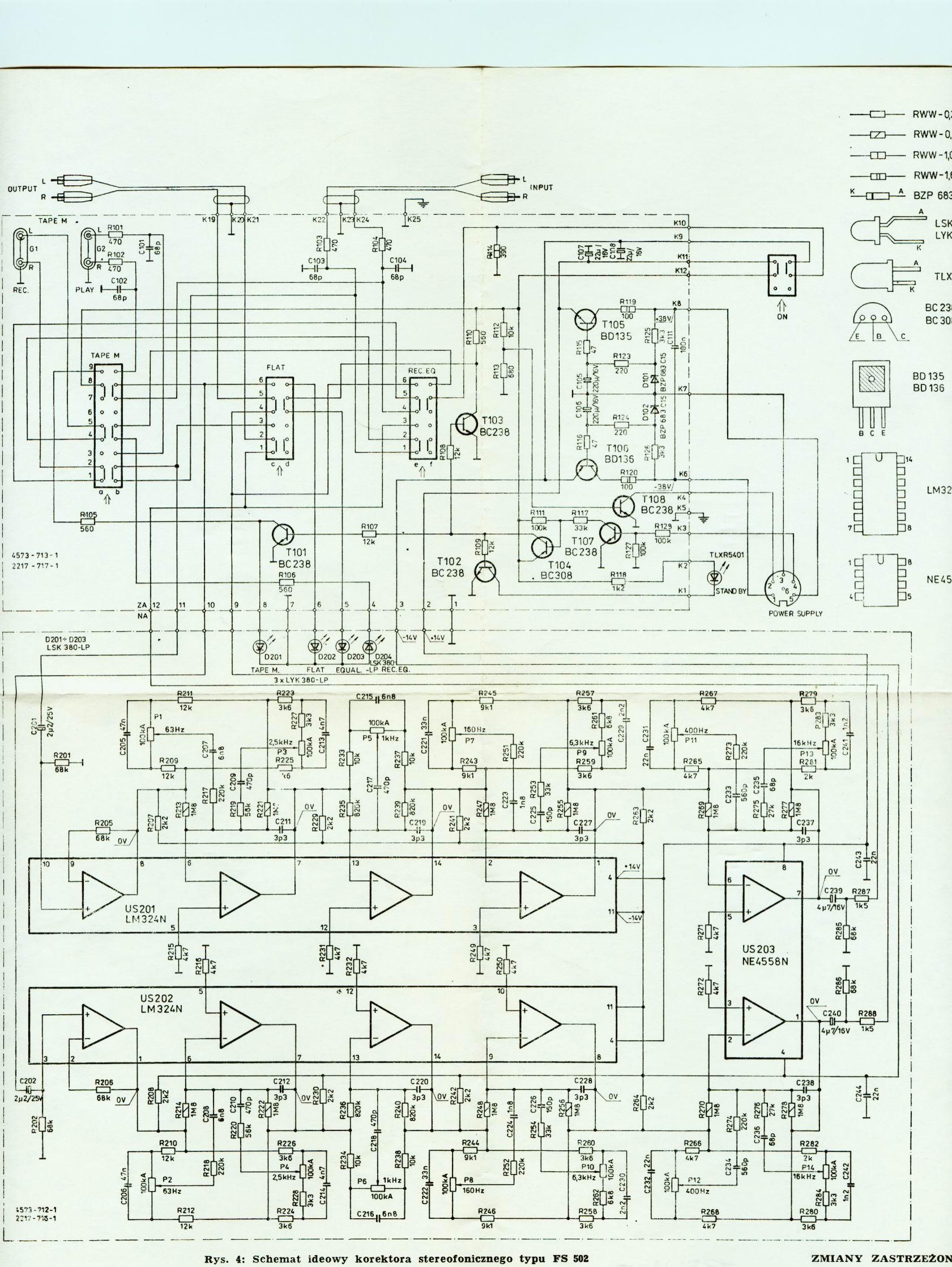 Korektor Diora FS 502 nie dzia�a lewa korekcja