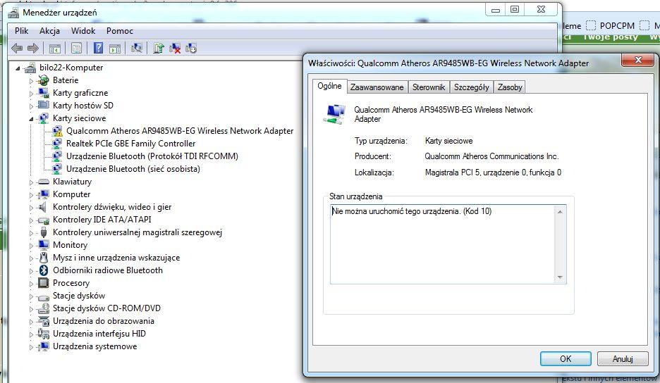 Samsung np305e7a s03pl - brak wifi