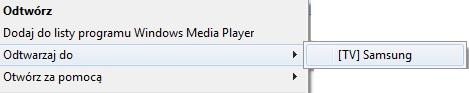 Windows 7 - Odtwarzaj do TV pliki mkv