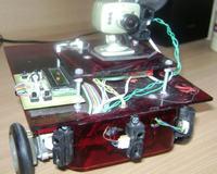 Robot mobilny, rozpoznający znaki drogowe.
