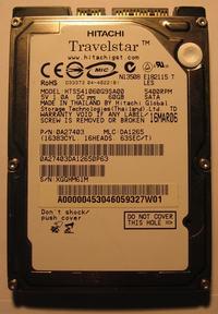 Hitachi HTS541060G9SA00 nie wykrywany w BIOS odzyskiwanie danych