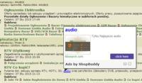 Linki tlbsearch.com w przeglądarce Maxthon.