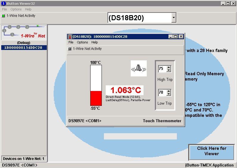 Pomiar temperatury ds18b20 - rs232 + konwerter USB