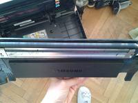 Samsung CLX3185 Biały pasek na wydruku