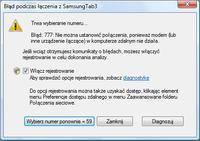 Tablet Samsung TAB3 z androidem jako modem USB dla Windows Vista