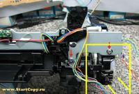 Canon IP4600 Pixma - Wyjęcie mechanizmu z dolnej części obudowy