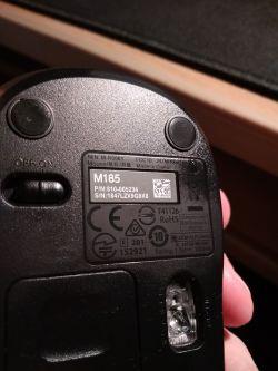 Logitech M185 - sprzedano mi starszy model myszki czy podróbkę?