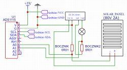 Jak zrealizować pomiar napięcia na boczniku z wykorzystaniem ADS1115 i arduino?