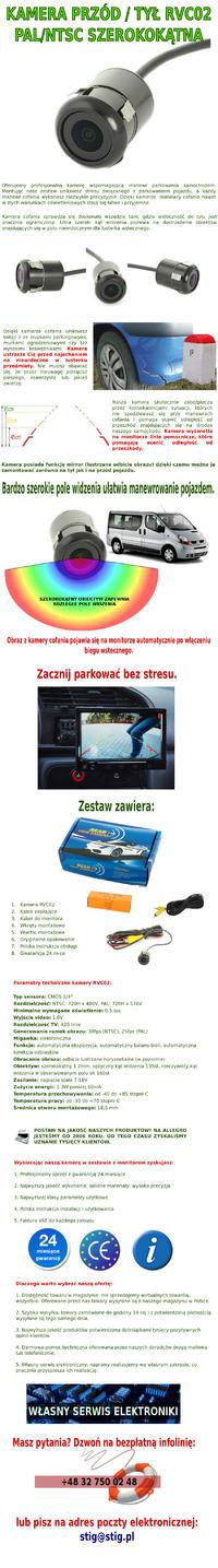 Montaż kamer w samochodzie przód/tył