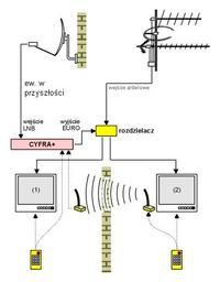 Jak podłączyć antenę do czterech pokoi