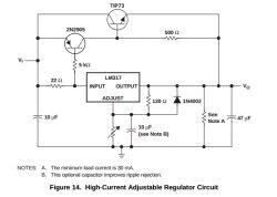 Regulator prądu na stabilizatorze LM317 i tranzystorze.