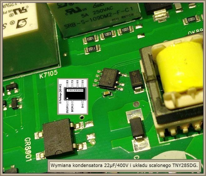 Pralka Bosch WAN2427SPL - jaki jest układ w przetwornicy?