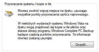 Lenovo Care - usunięcie backup'u
