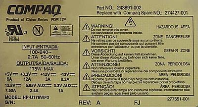 Compaq Series: PDP-117P -14 pin jak podłączyć zasilacz ATX