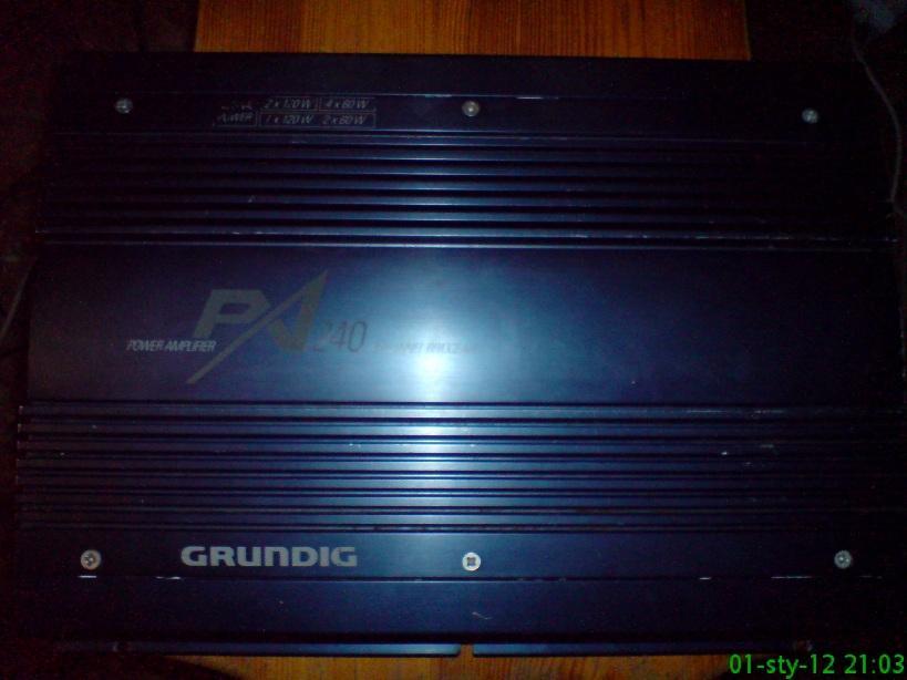 [Sprzedam]  GRUNDIG PA-240, ko�c�wka mocy, wzmacniacz car audio