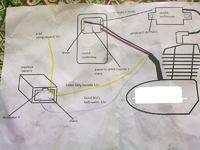 Jawa 250 353 - Jawa250 modyfikacja zapłonu elektronicznego do pracy z + na masie