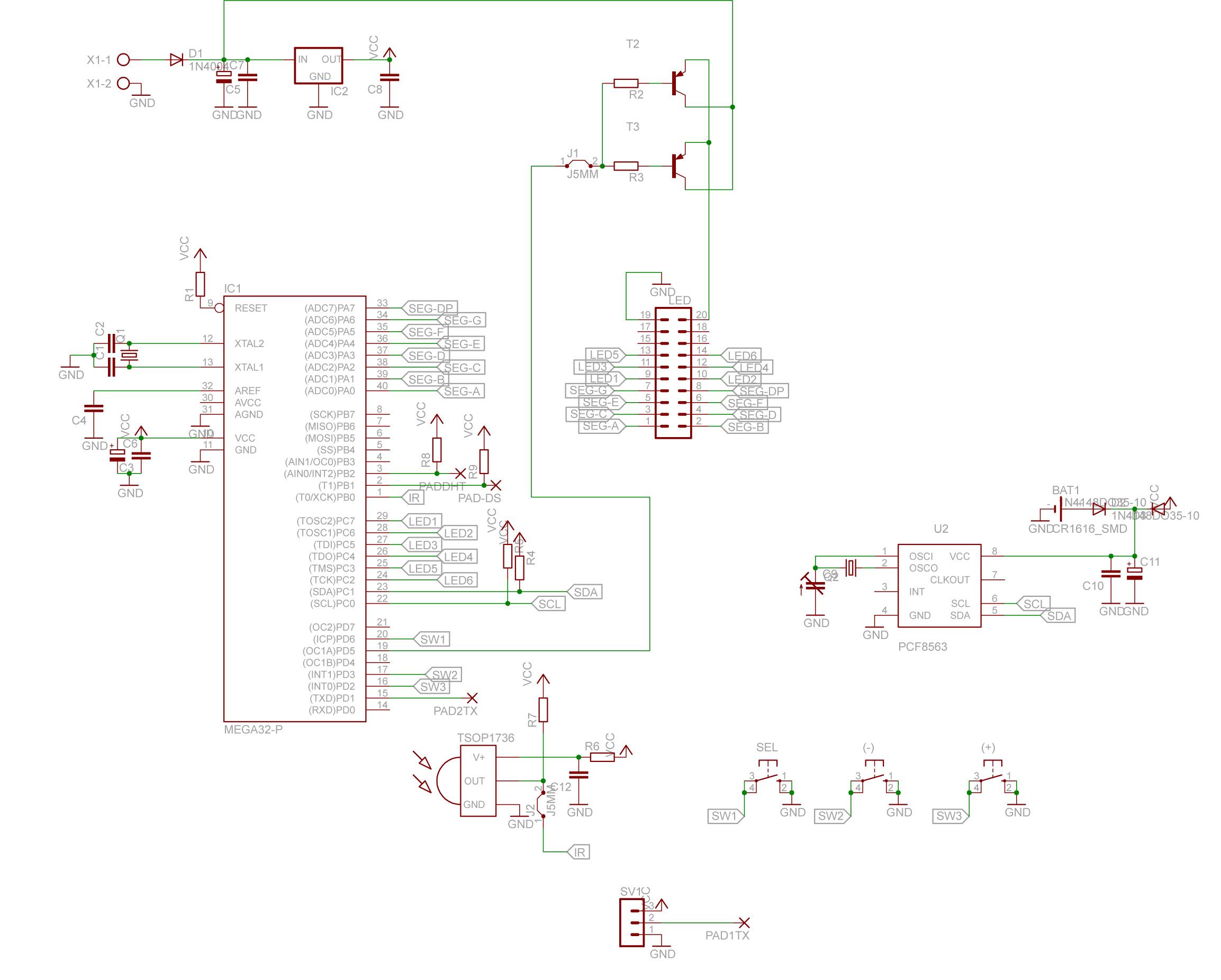 atmega32 Bascom - Multileksowanie 6-ciu wy�wietlaczy LED