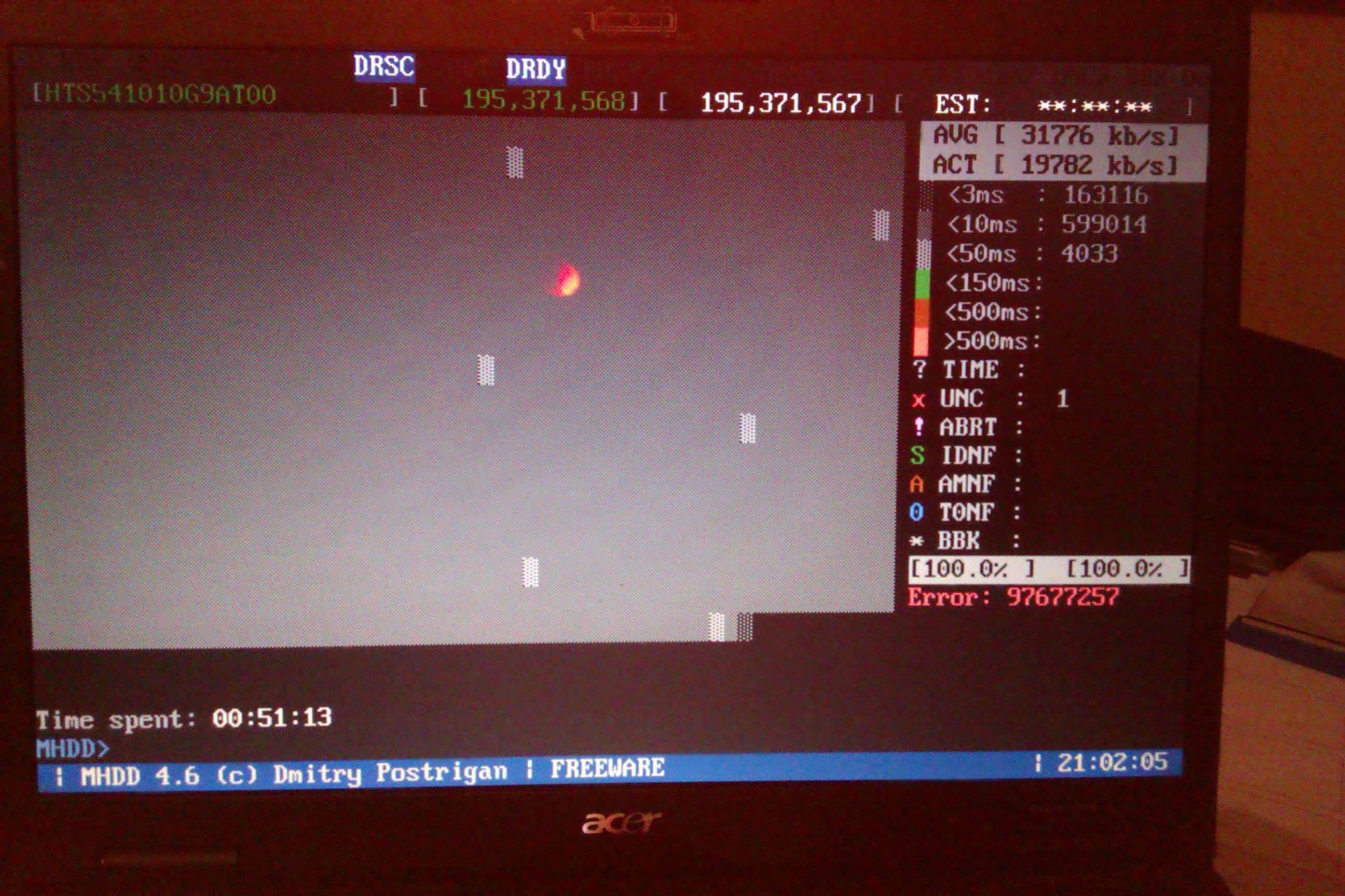 Dysk twardy w laptopie acer aspire3690