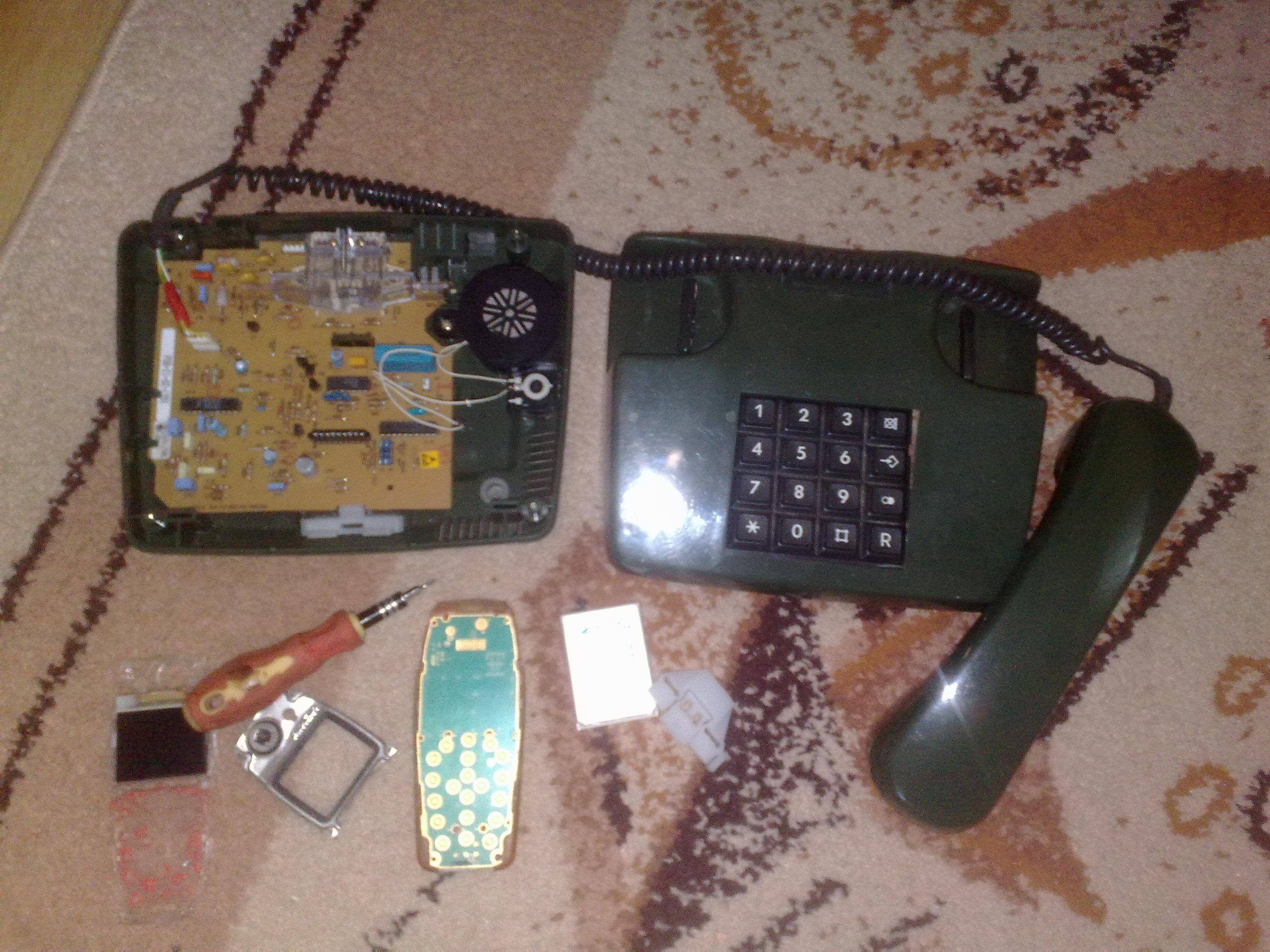 Bezprzewodowy stary Telefon Stacionarny TEL 01LX + NOKIA 3510i