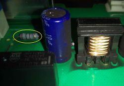 Bosh WAE 2447FPL - identyfikacjia kilku elementów na PCB modułu pralki