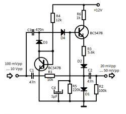 Kompresja sygnału w TDA7233