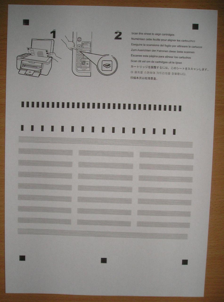 HP Deskjet F2200 series - skanowanie arkusza