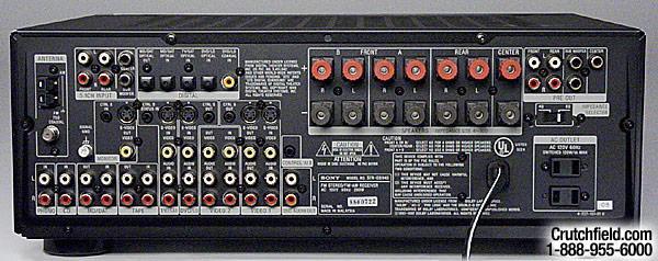 Amplituner Sony STR-DB940 - pod��czenie kolumn sb-eh550