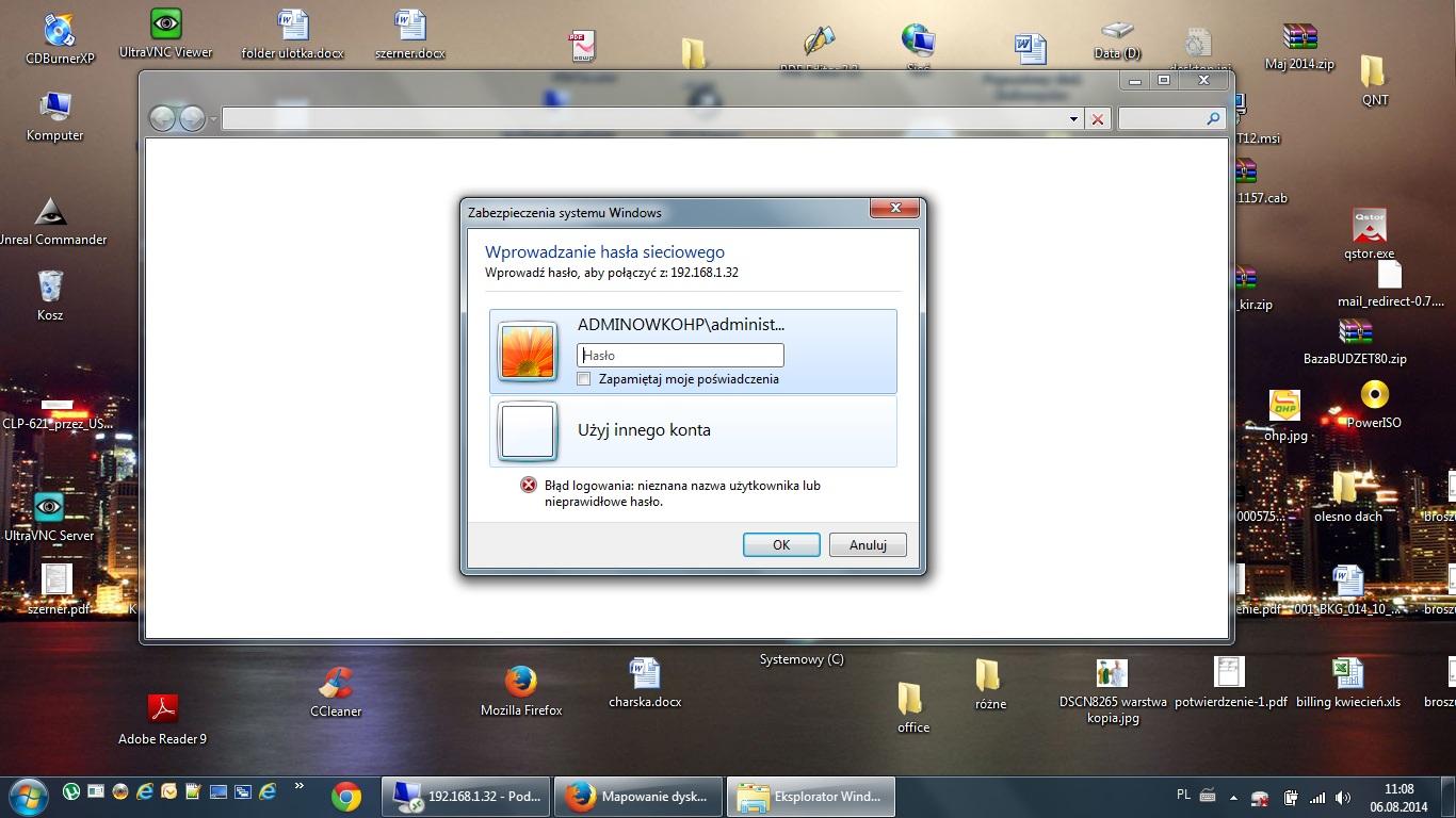 Mapowanie dysku na Windows Server2003