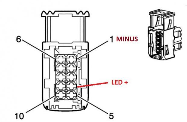 Opel Insignia - zasilanie �wiate� LED do jazdy dziennej