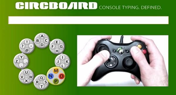 Circboard - szybkie pisanie przy pomocy kontrolera konsoli