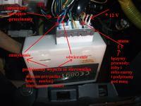 Honda HRV 3D 2002r - Podłączenie uniwersalnego sterownika zamka centralnego.