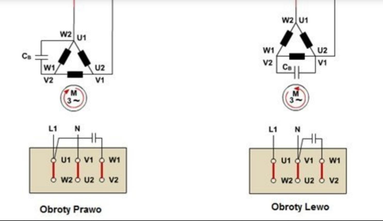Podłączenie kondensatora ac