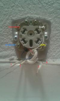 Podłączenie przewodów szwedzkiego gniazda telefonicznego