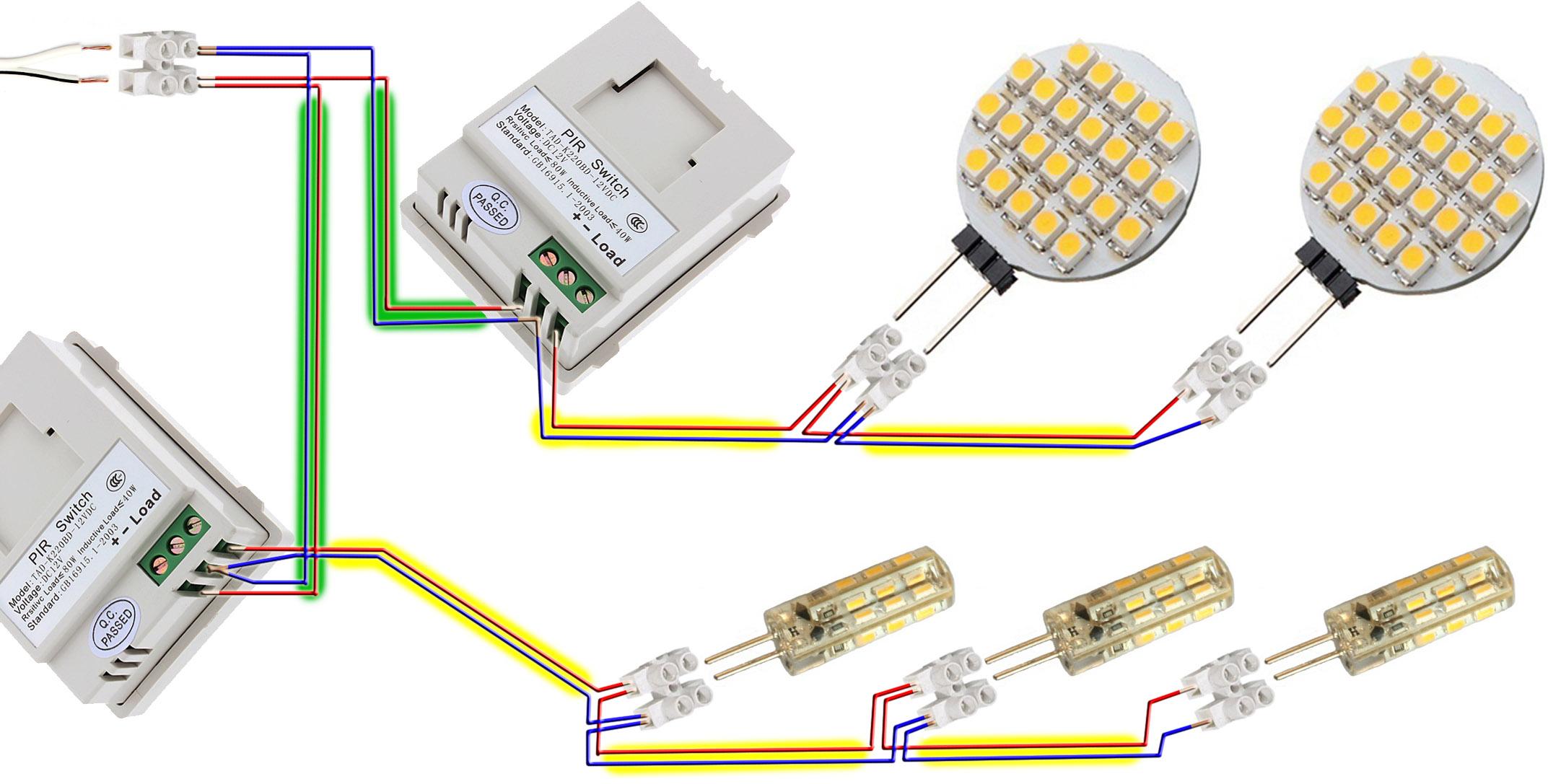 Automatyczne Oświetlenie Domu Oparte Na Led 12v I