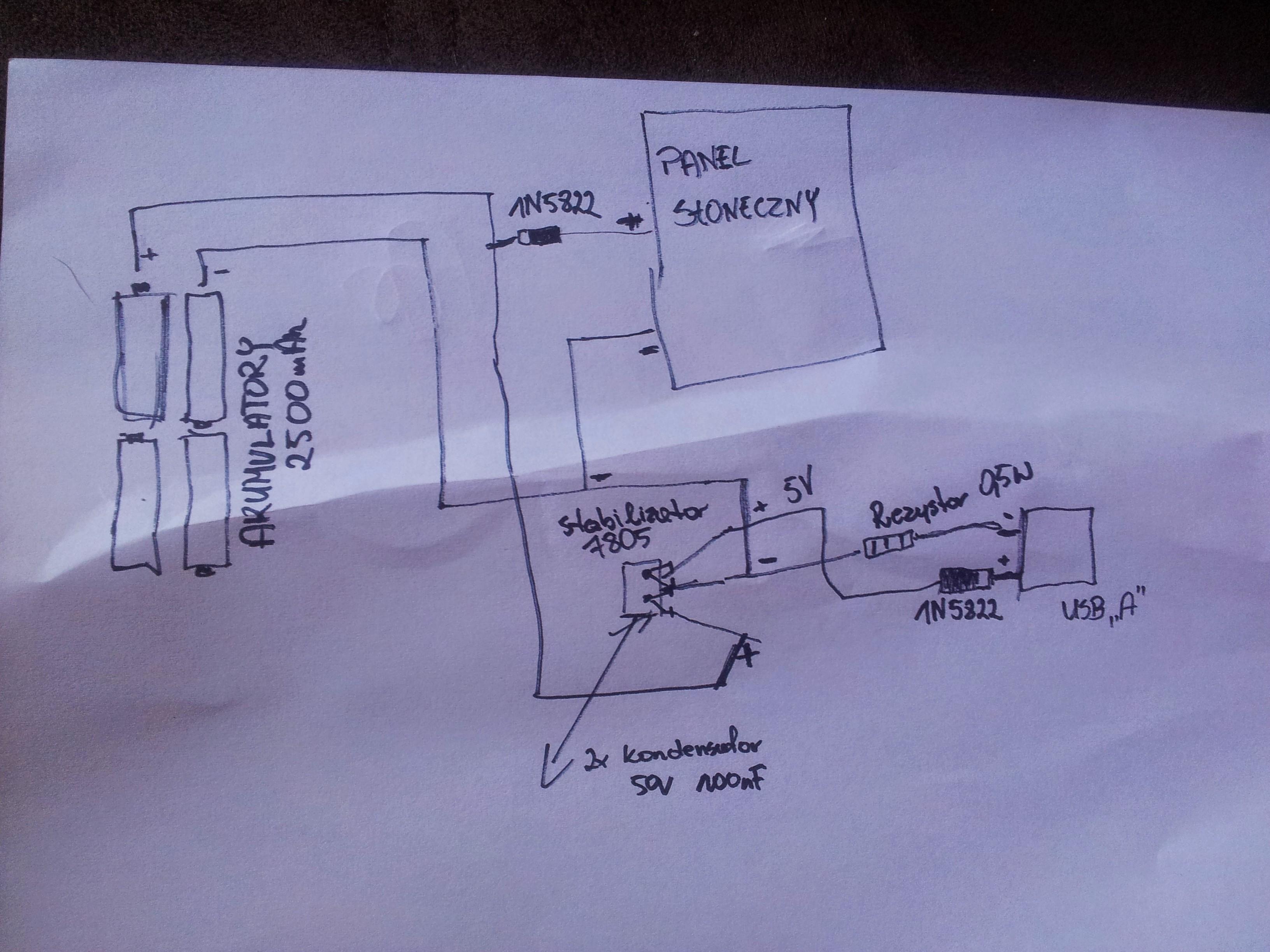 Budowa �adowarki s�onecznej z gniazdem USB