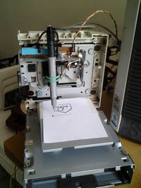 CNC plotter ze z�omu komputerowego