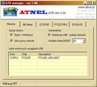 ECLIPSE + programator AVR oparty na FT232RL