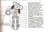 Mercedes silnik OM 621.918 dziwne ustawienie krzywek 1 cyl. na OT.