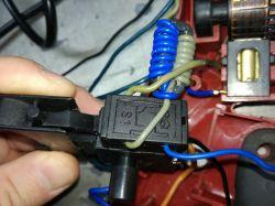 Wiertarka Einhell RT-ID 105 - podłączenie wyłącznika